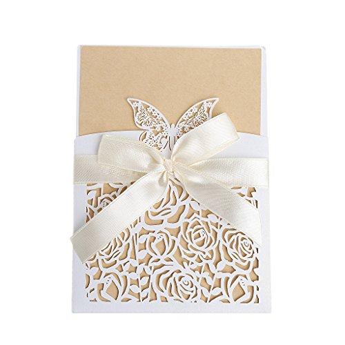 (KUKALE Invitation Cards 10Pcs Wedding Kit with Envelopes Seals Personalized)