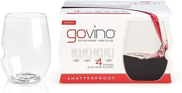 Govino Flexible Shatterproof Wine Glasses, 16-ounce, Set of 4