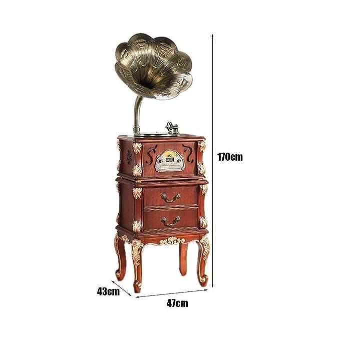 TBTUA Retro Bluetooth Big Horn Altavoz de Madera sólida de la ...
