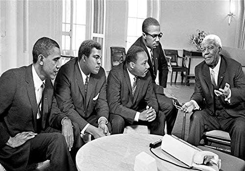 JCYMC Leinwand Bild Obama Nelson Mandela Malcolm X Kunstwerk Retro Poster Drucke Wandkunst Drucke Home Room Decor Mt59Vx 40X60Cm Rahmenlos