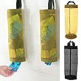 Forgun Plastic Bag Holder Dispenser Hanging Storage Trash Garbage Bag Kitchen O