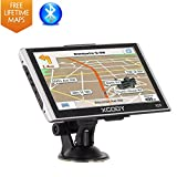 Xgody Car GPS Navigation System 7 Inch 8GB ROM Capacitive Touch Screen Trucking GPS Navigation System Spoken Turn-By-Turn Directions Lifetime Maps Update Speed Limit Displays