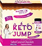 Nurse Hatty ® KetoJump BHB SALTS + KETONE STRIPS - Exogenous Ketones - Beta-Hydroxybutyrates - USA-made & PATENTED for the Ketogenic Diet (Calcium, Sodium, Magnesium & Potassium) 18 serv. Choc Caramel