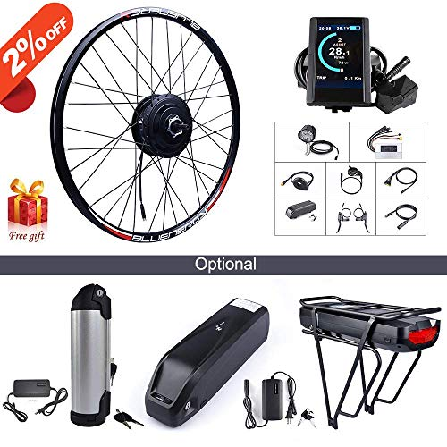 BAFANG 48V 500W Rear Hub Motor Kit Electric Bicycle Conversion Kit for Bikes 700C Wheel (750C Display, 48V 17.5Ah Shark Battery and Charger)