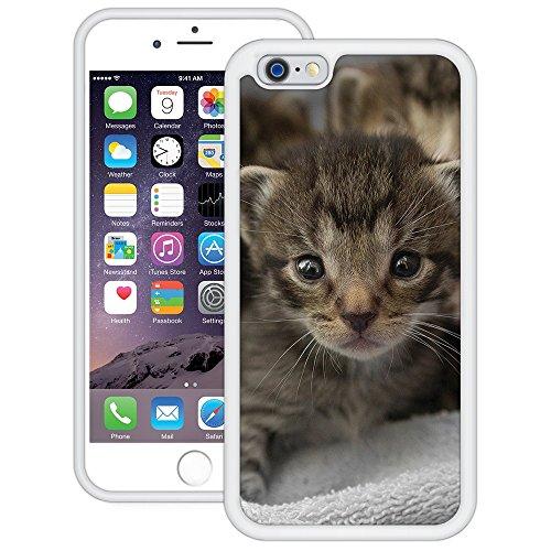 Süße Katze | Handgefertigt | iPhone 6 6s (4,7') | Weiß Hülle