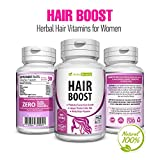 Natural Boost Hair Growth Vitamins – Healthier, Thicker & Longer Hair Regrowth – Organic Damaged Hair Treatment Supplements Formulated With Green Tea, Gotu Kola & More – All Hair Types 60 Veggie Caps For Sale