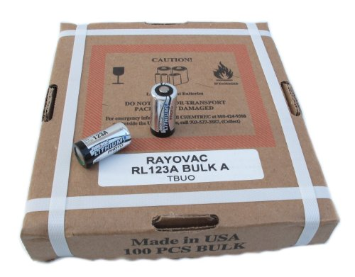 SPECIAL: 100 Box - Rayovac CR123A 3 Volt Photo Lithium Battery RL123A by Rayovac