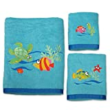 Allure Home Creation Fish Tails Cotton Three Piece Towel Set