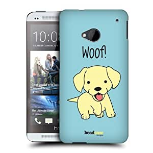Head Case Designs Yellow Lab Happy Puppies Protective Snap-on Hard Back Case Cover for HTC One by icecream design