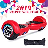 SISIGAD Hoverboard Self Balancing Scooter 6.5'' Two-Wheel Self Balancing Hoverboard with LED Lights Electric Scooter for Adult Kids Gift UL 2272 Certified - Red