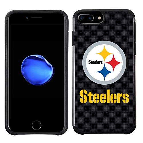 Prime Brands Group Cell Phone Case for Apple iPhone 8 Plus/iPhone 7 Plus/iPhone 6S Plus/iPhone 6 Plus - NFL Licensed Pittsburgh Steelers Textured Solid Color
