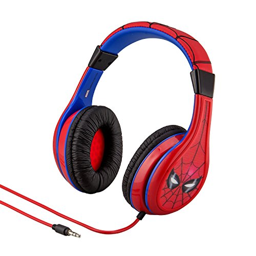 Marvel Spiderman Headphones - Youth Headphones With Built In Volume Limiter And Kid Friendly Sound Levels – The Ultimate Spiderman Headphones To Celebrate Homecoming!