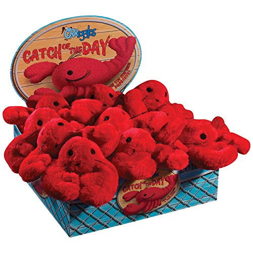 Grriggles Catch of the Day Lobster Dog Toy Display, 12-Pack by Grriggles