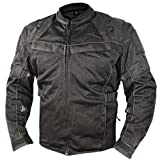 Xelement XS-8160 All Season Mens Black Tri-Tex and Mesh Jacket - Medium
