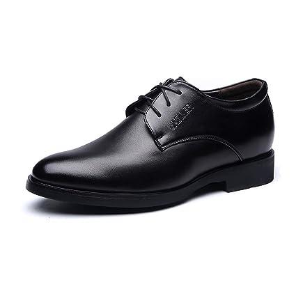 Mocasines para hombres, con cordones en los negocios Oxfrods PU Zapatos con elevador para mocasines