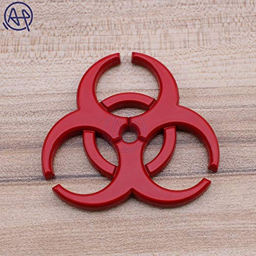 (for Jeep Wrangler Decals: 4colors Resident Evil Biohazard Emblem Badge Chrome Metal Car Styling Body Decal Stickers for Jeep Wrangler Grand Cherokee BMW)
