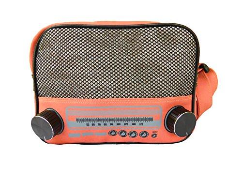 Jukebox Musicbox Schultertasche Damentasche schweinchen rosa Reissverschluss