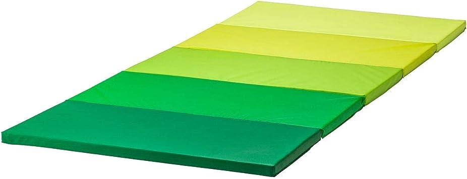 IKEA PLUFSIG Gymnastikmatte faltbar grün 78x185 cm Kinderturn//Sport//Spielematte
