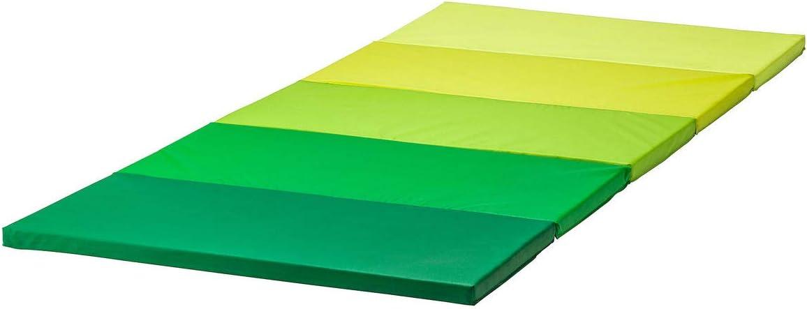 Ikea PLUFSIG Tapis de gymnastique pliable Vert 78 x 185 cm