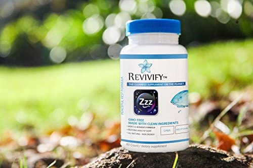 Revivify Natural Sleep Aid with Melatonin GABA Magnesium and Ltheanine for Herbal NonHabit Forming