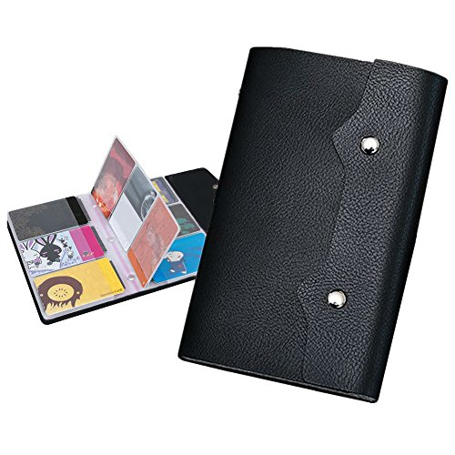 Xerhnan PU Leather Business Name Card Case Universal Card Holder (Hold 100 pics of cards)Black 2 Pcs