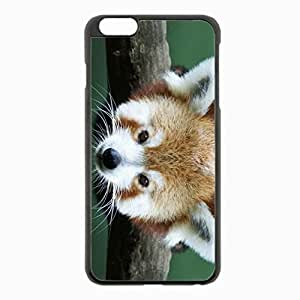 iPhone 6 Plus Black Hardshell Case 5.5inch - eared creature eyes Desin Images Protector Back Cover