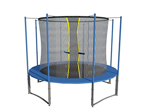 Exacme 6W Legs Trampoline with Safety Pad & Intra Enclosure Net & Ladder Combo, 12'