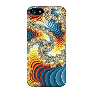 For LastMemory Iphone Protective Case, High Quality For Iphone 5/5s Psychedelic Art Spiral Skin Case Cover