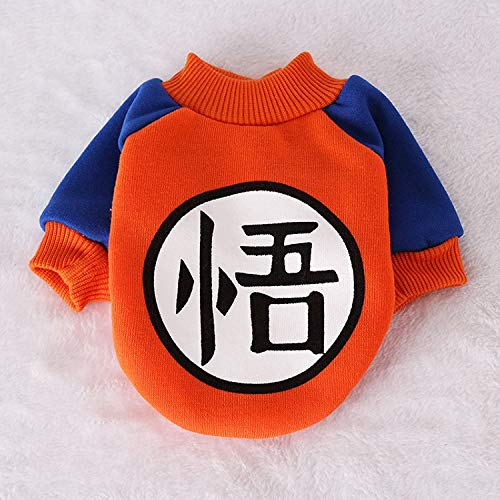 Dog Coat - Small Dog Pet Clothes Dragon Ball Goku Sweater T-Shirts Warm Apparel Costume Dog Clothes for Dogs Game Mascot for -