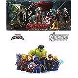 ABG toys Minifigures MARVEL Super Heroes Avengers 2 Age of Ultron Ultron, Iron Man with armor Mark XLIII, Hulk, Captain America, Thor, Black Widow, Nick Fury,Hawkeye Minifigure Series Building Blocks Sets Toys