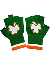 St. Patrick's Day Fingerless Shamrock Gloves (2 Pairs)