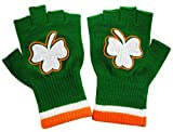 "St. Patrick's Day Fingerless Shamrock Gloves (Pair). Our Fingerless Shamrock Gloves are one size fits all and will stretch to fit anybodies hands. Be ""seen in green"" this St. Patrick's day! Keep warm and look great! Accent your St.Patrick's d..."