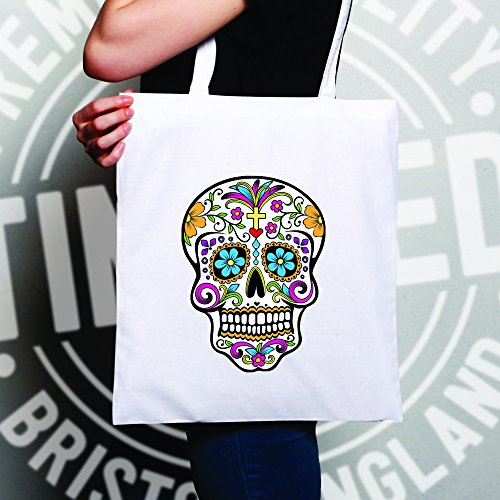 Size Skull Mexican Dead Natural One Bag Of Natural Tote Sugar Day The xF4Xqw0v