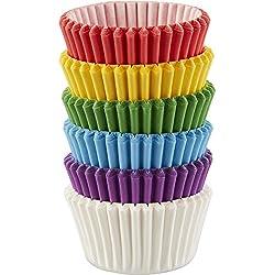 Wilton 415-5171 150 Count Rainbow Mini Cupcake Liners