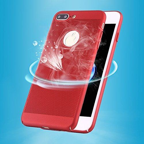 MXNET IPhone 7 Plus Fall, leichter Breathable voller Abdeckung PC Shockproof schützender rückseitiger Abdeckungs-Fall CASE FÜR IPHONE 7 PLUS ( Color : Red )
