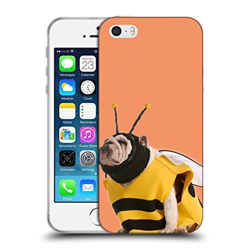 GoGoMobile Coque de Protection TPU Silicone Case pour // Q05650607 Abeille bouledogue Atomic Tangerine // Apple iPhone 5 5S 5G SE