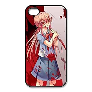 iphone4 4s Phone Case Black Mirai Nikki Future Diary WE1TY680931