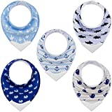 Bandana Bibs with Teething Corner, Teething Bib by Giftty, BPA-Free Silicone Teether