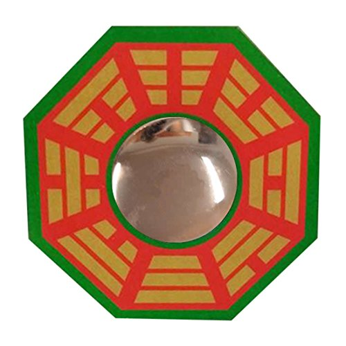 RATNATRAYA - THE HOME OF FAITH Ratnatraya Feng Shui Chinese Convex Glass Vastu Bagua(Pa kua) Mirror for Positive(chi) Energy | Pakwa Octagon Front Wall/Door Decor for Protection