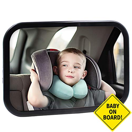 Lowest Price! Baby Car Mirror for Car Seat Rear Facing Back Seat Mirror for Infant Child,Fully Assem...