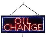 LARGE LED OPEN SIGN - ''OIL CHANGE'' - 13''X32'' size, ON / OFF / FLASHING MODE (LED-Factory #2571)
