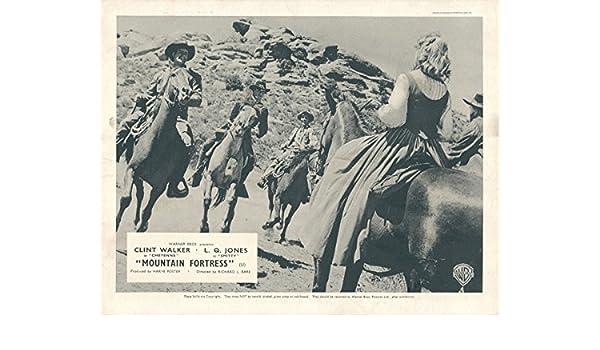 MOUNTAIN FORTRESS CHEYENNE Original Lobby Card Clint Walker L Q Jones TV Western
