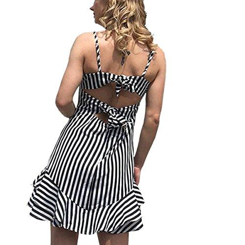 Femme Black Robe Chic Soleil De Femme Petite t Robe sans Vacances Bretelle r6p4qrCw