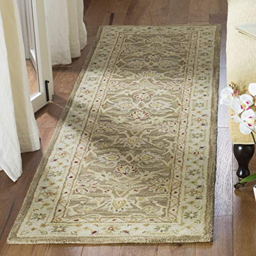 Safavieh Anatolia Collection AN522B Handmade Traditional Oriental Tan and Ivory Wool Runner (2'3