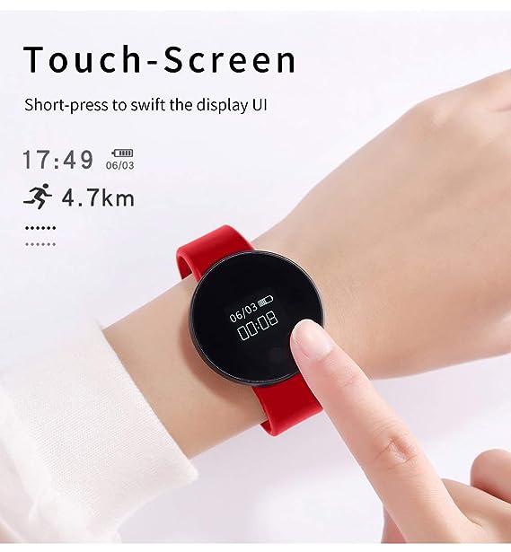 Tayhot - Reloj Digital para Mujer, con Pantalla táctil Bluetooth y Monitor de sueño, recordatorio de calorías, podómetro, recordatorio de la cámara, ...