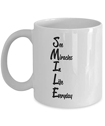 See Miracles In Life Everyday   11oz White Coffee Mug Cool Inspirational  Gift For Family Friends