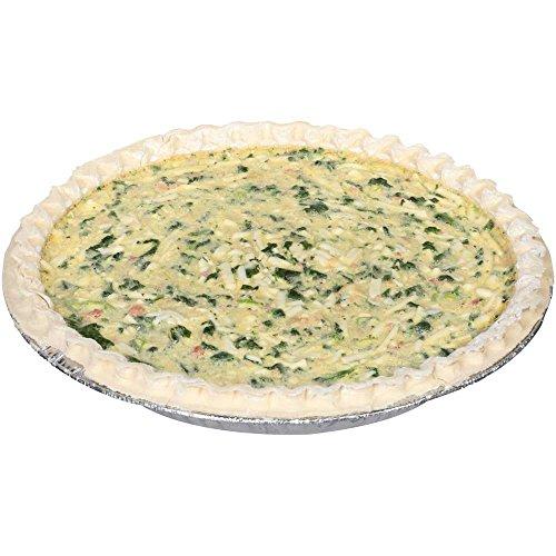 Sara Lee Chef Pierre Unbaked Spinach Quiche, 10 inch -- 6 per case.