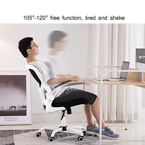 WYY HPLL kontorsstol kontorsstol, höjd justerbar mellanrygg nät kontor dator svängbar skrivbord uppgift stol, ergonomisk verkställande stol med armstöd, 30° rygg svängbar stol
