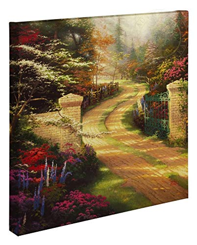 (Thomas Kinkade Spring Gate 20 x 20 Gallery Wrapped Canvas)