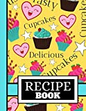 Recipe Book: Sweet Cute Cupcake and Stars Cooking Print Gift - Blank Recipe Book for Boys, Girls, and Kids